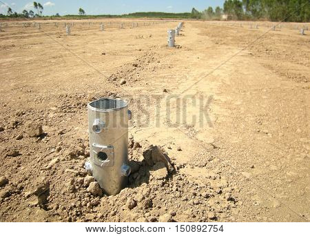Screw Pile in Ground ready for Solarfarm installation