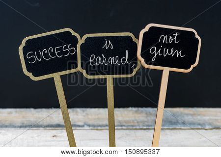 Business Message Success Is Earned, Not Given