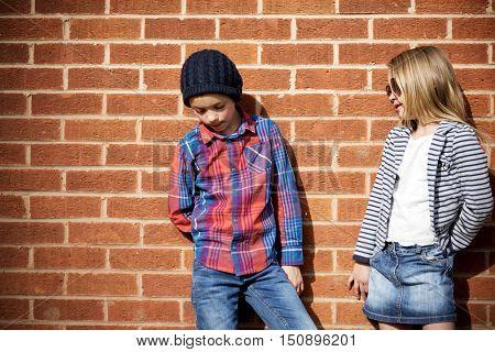 Fashionista Girl Boy Child Adorable Cute Concept