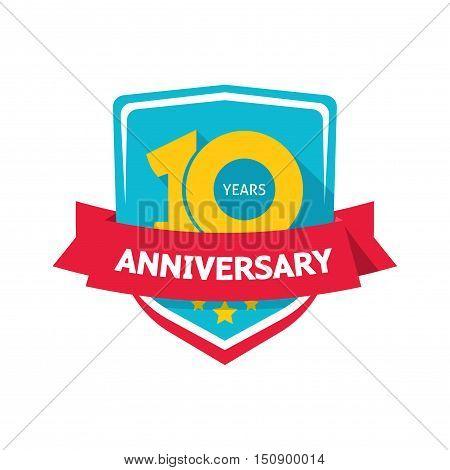 Ten Years Anniversary Vector Photo Free Trial Bigstock