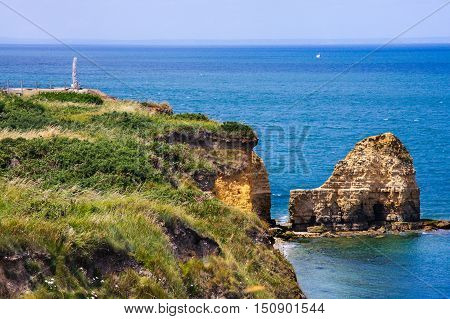 Pointe du Hoc and Ranger Monument, Normandy, France