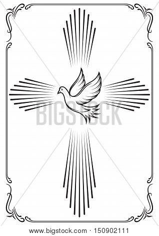 Symbolic Cross Dove. Vector & Photo (Free Trial) | Bigstock