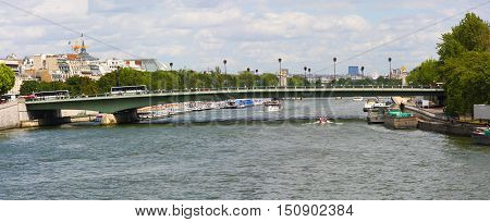 Pont de l'Alma, bridge across Seine River through the middle of Paris