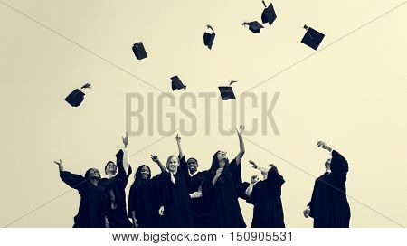 Successful Masters PHD Graduation College Concept poster
