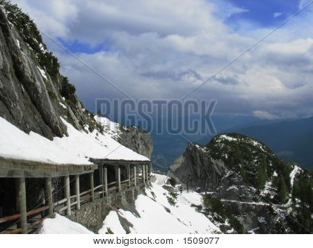 Snowy Mountain Path