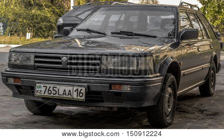 Kazakhstan, Ust-Kamenogorsk, october 7, 2016: Nissan Bluebird, old car, old japanese car in the street