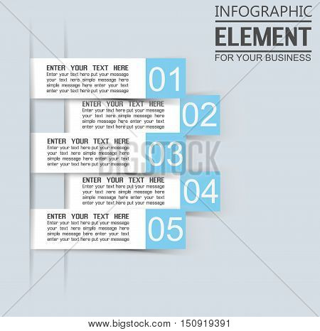 ELEMENT FOR INFOGRAPHIC TEMPLATE GEOMETRIC FIGURE STIKER BLUE THIRD EDITION