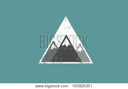 vector illustration of mountain, mountain logo, mountain design, mountain concept, creative mountain