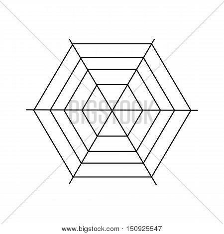 Cobweb icon. Outline illustration of cobweb vector icon for web design