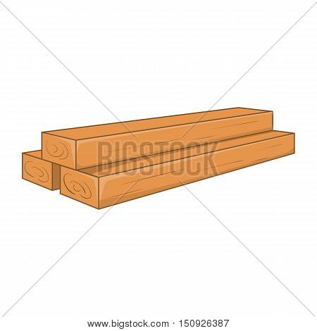 Timber planks icon. Cartoon illustration of planks vector icon for web design
