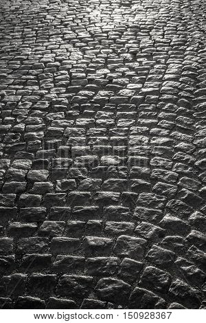 Rough texture of block pavement background for your design