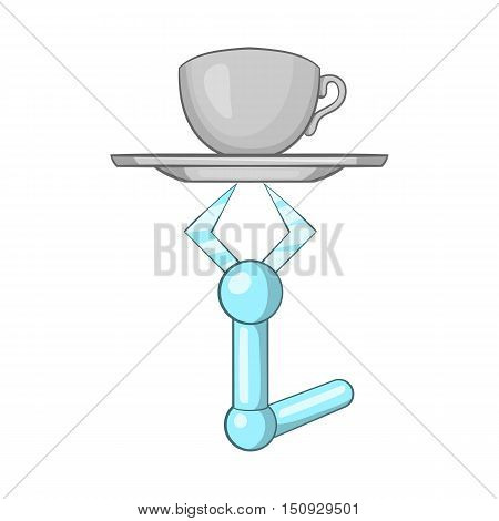 Robot arm icon. Cartoon illustration of robot arm vector icon for web design
