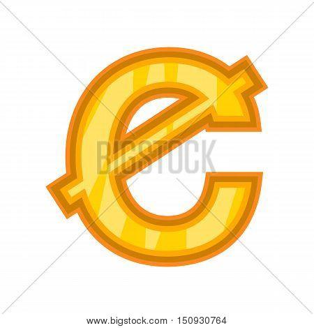 Ghanaian cedi icon. Cartoon illustration of money vector icon for web design