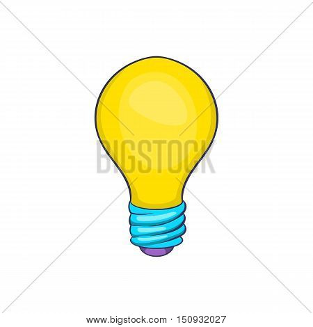 Light bulb icon. Cartoon illustration of bulb vector icon for web design