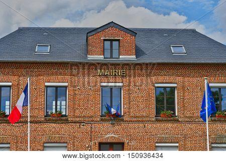 Sainte Marguerite sur Duclair, France - june 22, 2016 : the city hall