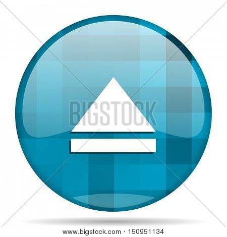 eject blue round modern design internet icon on white background