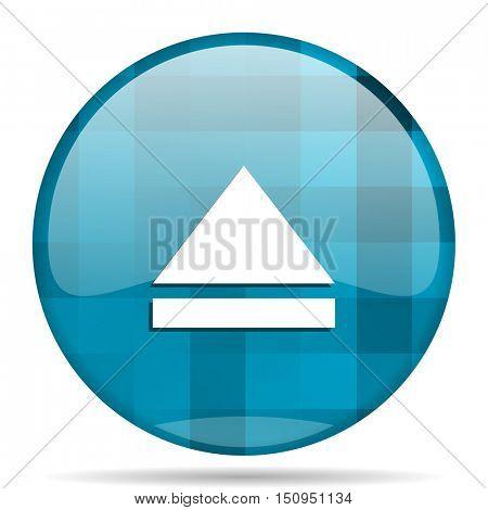 eject blue round modern design internet icon on white background