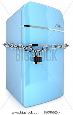 Retro Blue Fridge 3D