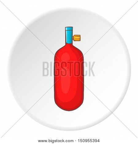 Oxygen cylinder icon. Cartoon illustration of oxygen cylinder vector icon for web
