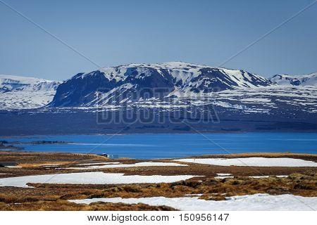 Landscape on Iceland near the capital Reykjavik