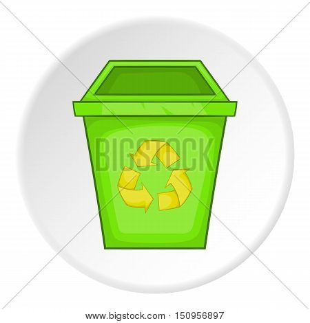 Eco dustbin icon. Cartoon illustration of eco dustbin vector icon for web