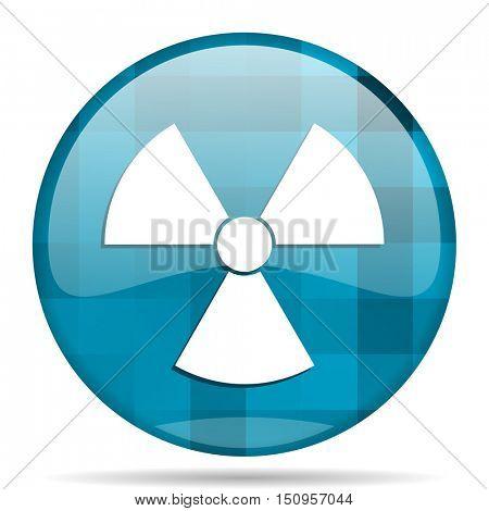 radiation blue round modern design internet icon on white background