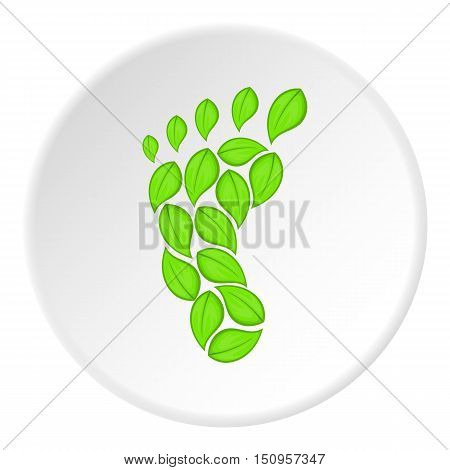 Eco footprint icon. Cartoon illustration of eco footprint vector icon for web