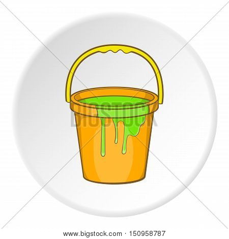 Bucket of paint icon. Cartoon illustration of bucket of paint vector icon for web