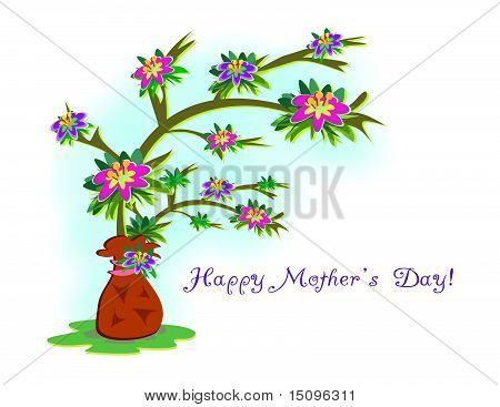 Happy Mother's Day Flower Tree