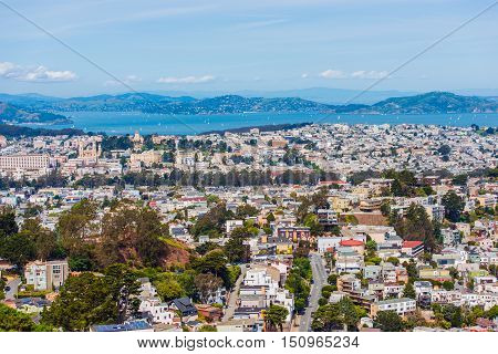 San Francisco Uptown Cityscape. San Francisco California United States.