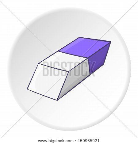 Eraser icon. Cartoon illustration of eraser vector icon for web