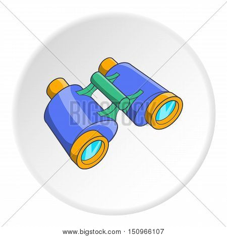 Binoculars icon. Cartoon illustration of binoculars vector icon for web
