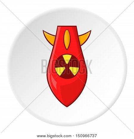 Nuclear warhead icon. Cartoon illustration of nuclear warhead vector icon for web