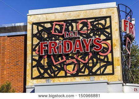 Indianapolis - Circa October 2016: TGI Friday's Restaurant Location. TGI Fridays offers great food and amazing drinks I