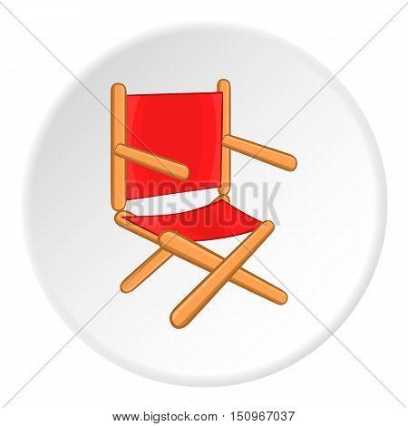 Directors chair icon. Cartoon illustration of directors chair vector icon for web