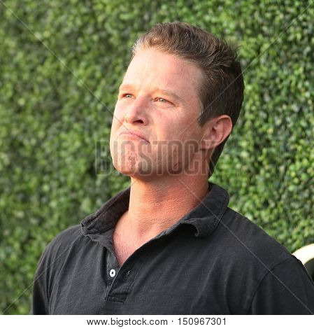 NEW YORK - SEPTEMBER 8, 2016: TV personality Billy Bush attends US Open 2016 semifinal match between Serena Williams and Karolina Pliskova at USTA Billie Jean King National Tennis Center in New York