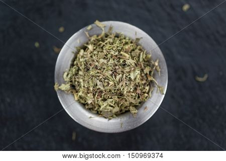 Portion Of Stevia Leaves (dried, Close-up Shot)