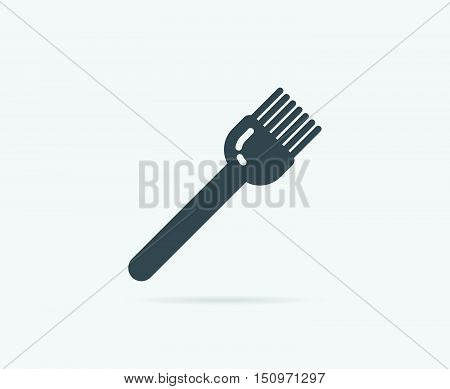 Baker Brush Pastry Vector Element Or Icon, Illustration Ready For Print Or Plotter Cut Or Using As L