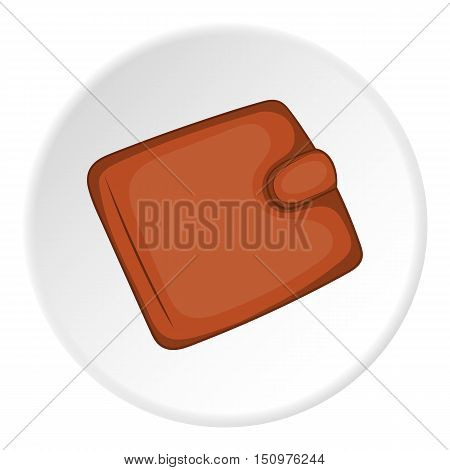 Leather purse icon. Cartoon illustration of leather purse vector icon for web
