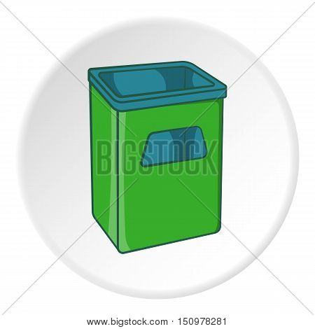 Street dustbin icon. Cartoon illustration of street dustbin vector icon for web