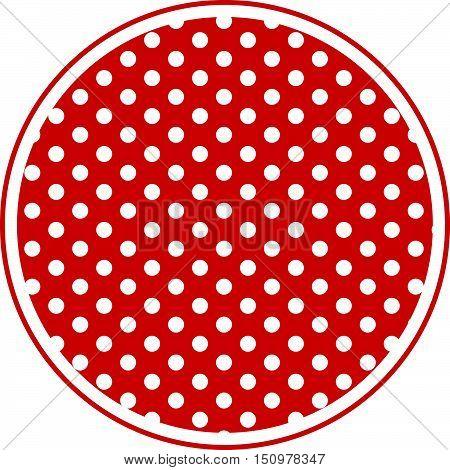 Polka Dot Round Background eps 10 format