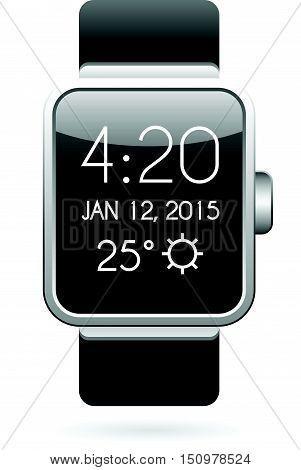 Smart Watch Illustration in Vector eps 10