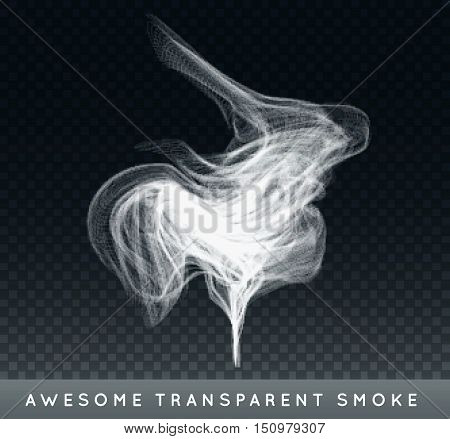 Vector Realistic Cigarette Smoke Or Fog Or Haze With Transparency Isolated Can Be Used With Any Back