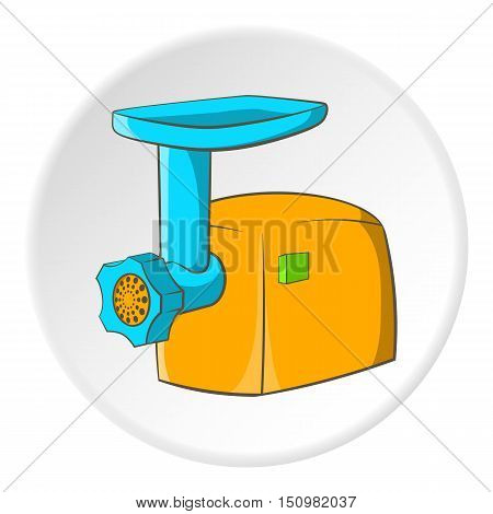 Electric grinder icon. Cartoon illustration of electric grinder vector icon for web