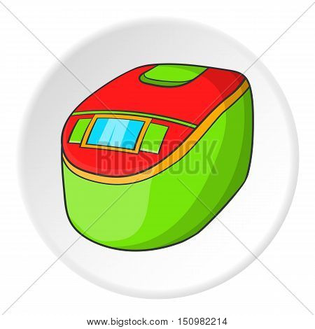 Slow cooker icon. Cartoon illustration of slow cooker vector icon for web