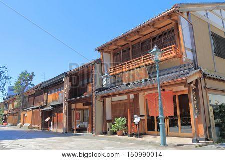 KANAZAWA JAPAN - OCTOBER 7, 2016: Nishi chaya Japanese old house district in Kanazawa Japan