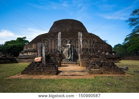 Pabalu Vehera in ancient city of Polonnaruwa, Sri Lanka. This stupa was built by Queen Rupawathi, one of the queens of King Parakramabahu.