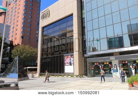 KANAZAWA JAPAN - OCTOBER 7, 2016: Unidentified people visit ATRIO department store Kanazawa Japan