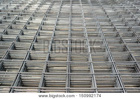 Steel Bars Stacked For Construction, background, industry