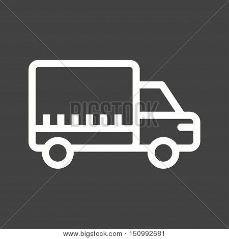 Logistics, shipping, truck icon vector image. Can also be used for lifter. Suitable for mobile apps, web apps and print media.